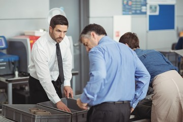 Passengers in security check