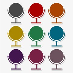 Mirror Icon Set in Various Colors