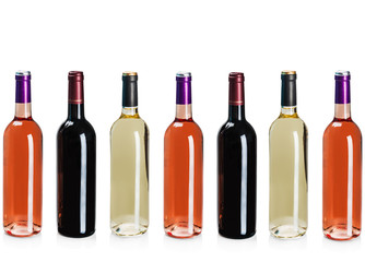 bottles of wine of different types