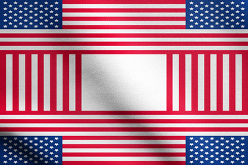 Patriotic USA design in style of the American flag