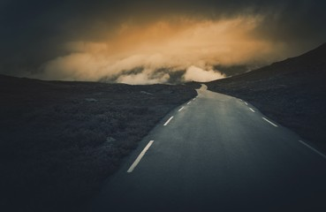 Wall Mural - Uncertain Road Ahead