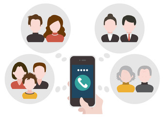 Phone and network communication concept