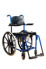 Commode wheelchair for disabled person isolated