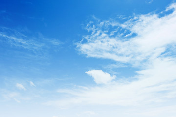 Blue sky with clouds background texture