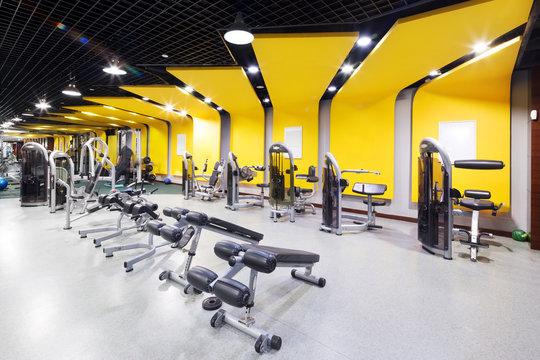 interior of modern gym