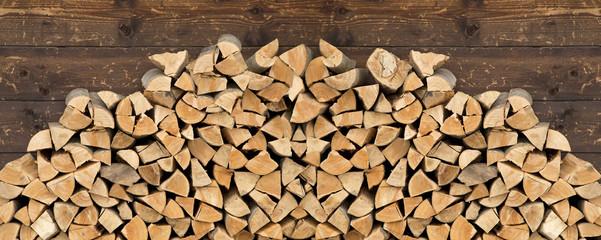 Ingelijste posters Brandhout textuur Firewood