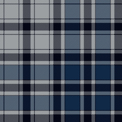 Blue check plaid seamless pattern