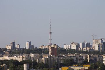 TV Tower. City landscape. Kiev
