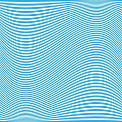 Blue Wavy Lines Pattern - Background Design