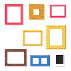 Photo frame vector set.