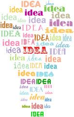 Light bulb idea concept, grungy, business abstract