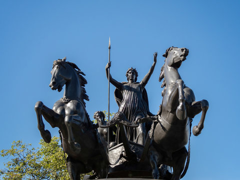 Bronze Sculpture by Thomas Thornycroft Commemorating Boudicca