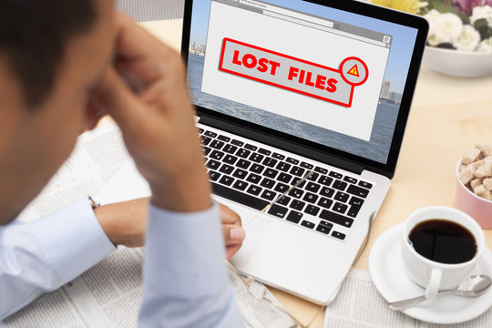 Stressed businessman has just lost his important files