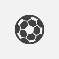 soccer ball icon vector, solid logo illustration, pictogram isolated on white
