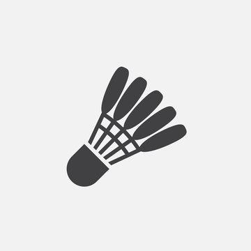 Shuttlecock icon vector, solid logo illustration, pictogram isolated on white