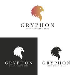 Gryphon logo. Gryphon head.