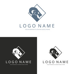 Ram logo template. Three versions