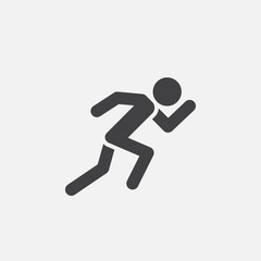 Running icon vector, solid logo illustration, pictogram isolated on white