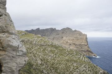holidays, Cape formentor on the island of Majorca in Spain. Clif