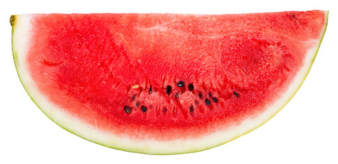 portion of ripe watermelon isolated on white