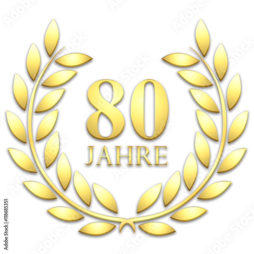 Lorbeerkranz gold 80 jahre stock photo and royalty for Garderobe 80 jahre