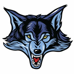 Wolf Head Mascot Vector Illustration