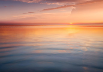 Seascape during sunrise. Beautiful natural summer seascape Wall mural