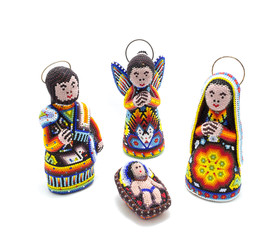 mexican chaquira nativity scene for christmas decoration
