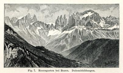 Rosengarten near Bolzano (from Meyers Lexikon, 1895, 7 vol.)