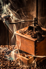 Aroma of roasted coffee seeds