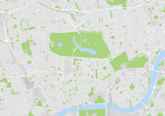 vector city map of west central London, Hydepark