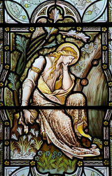 Mary Magdalene in stained glass