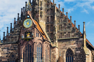 Frauenkirche or Church of Our Lady - church in Nuremberg, Germany
