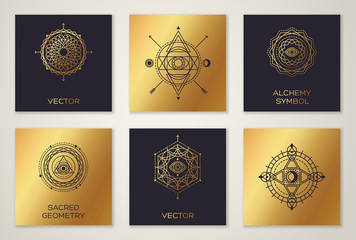 Set of Sacred Geometry Minimal Geometric Shapes
