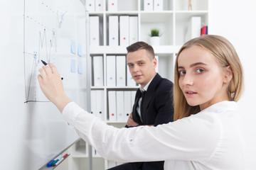Businesspeople preparing to meeting