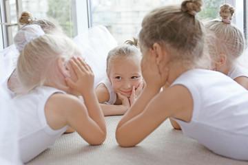 Little ballerinas at ballet school