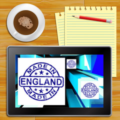 Made In England Products English Manufacturing 3d Illustration