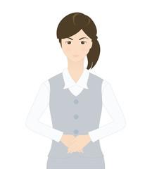 受付の女性(シリアスなイメージ)