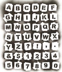 Spray Paint Alphabet