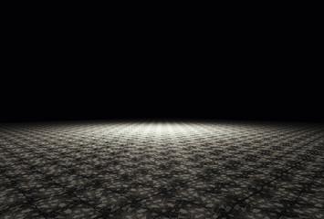 Ground in the darkness.