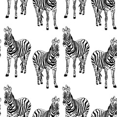 Abstract hand painted seamless animal background. Zebra striped