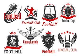 American football heraldic sports badges