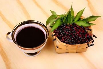 Fresh tea fruit elderberry