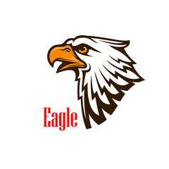 Eagle head vector outline emblem