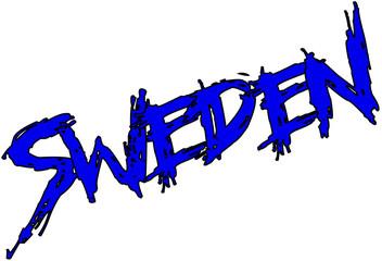 Sweden text sign
