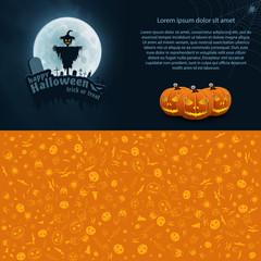 Happy Halloween Vector Postcard