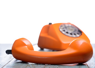 Vintage Phone  with isolated background