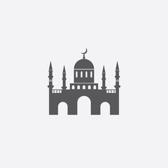 Islamic mosque. Vector icon.