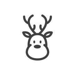 Vector Illustration of a Reindeer Icon