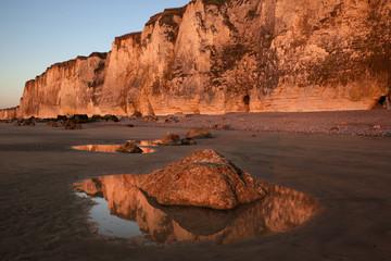 Coastal Cliffs in Normandy, France
